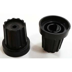 Knoflík 6mm černý bez čepičky