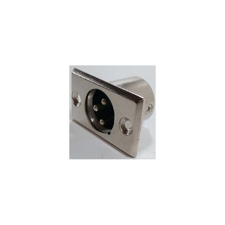konektor XLR 3x samec panelový