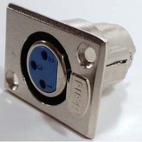 Konektor XLR 3x samice panelová