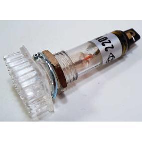 Kontrolka 220VAC s doutnavkou bílá