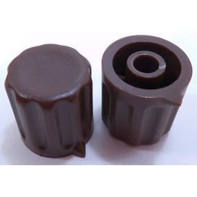 Knoflík 4mm KP1404 hnědý