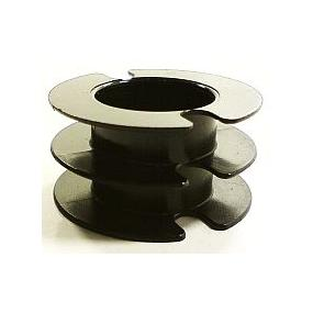 Kostřička do hrníčku P26x16 černý plast 2komory