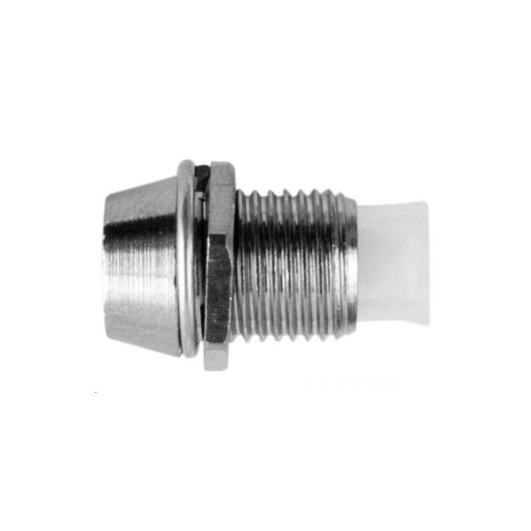 Objímka na LED 5mm kovová chrom