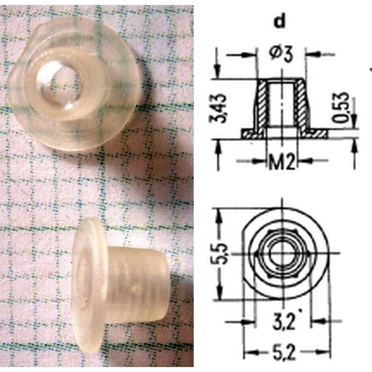 plastový závit M2 do hrníčku P18