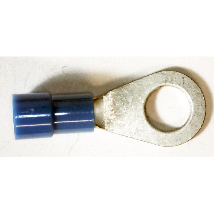Lisovací očko 6mm na drát 2,5mm modré
