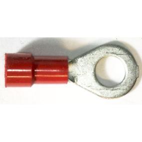 Lisovací očko 6mm na drát 2,5mm červené