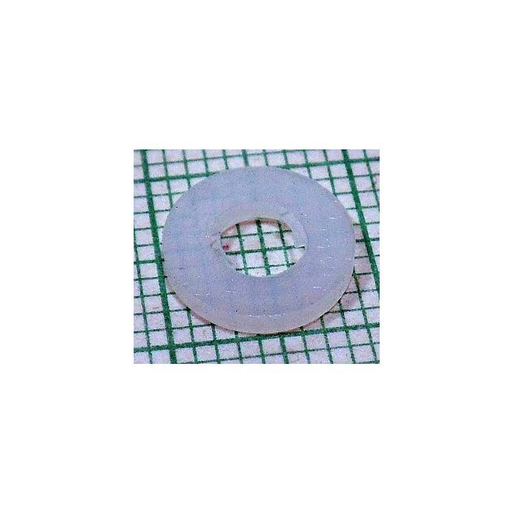 Podložka M4 1,4mm plastová bílá