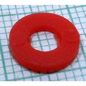 Podložka M4 1,1mm plastová červená