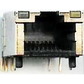 Zásuvka RJ45 PRINT, 2xLED, SMD