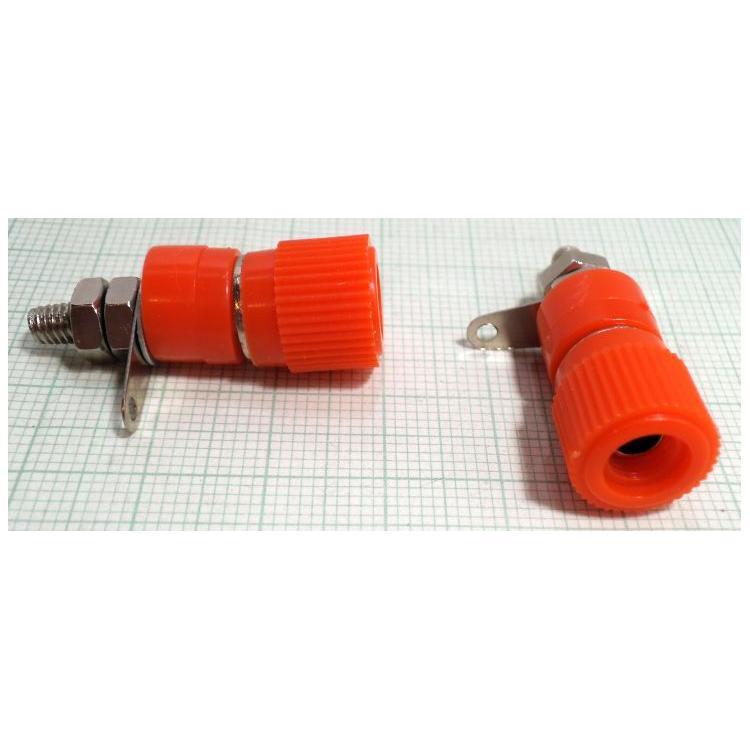 Zdířka 4mm šroubovací červená 12x22mm