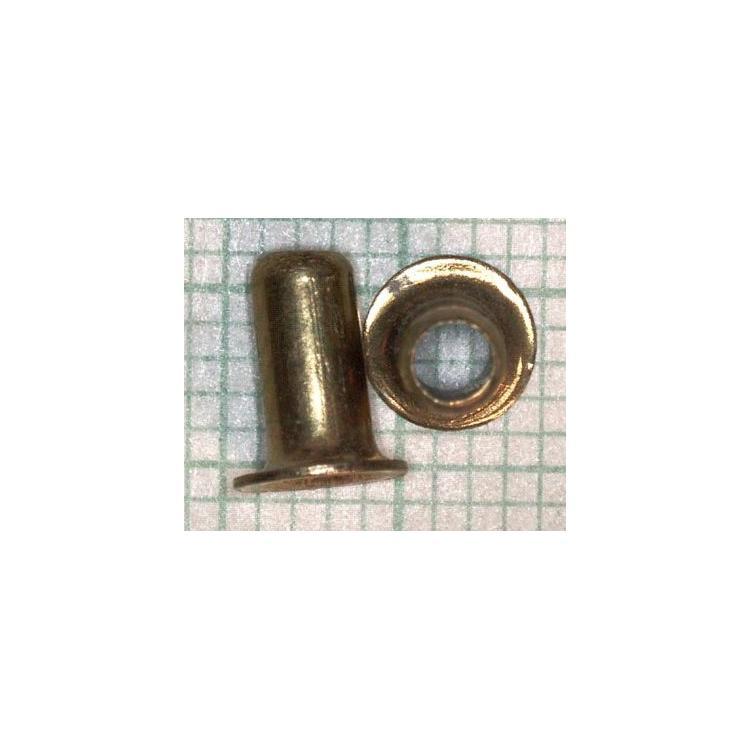 Nýt dutý mosazný 3,0x6,5mm