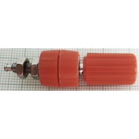 Zdířka 4mm šroubovací červená 15mm