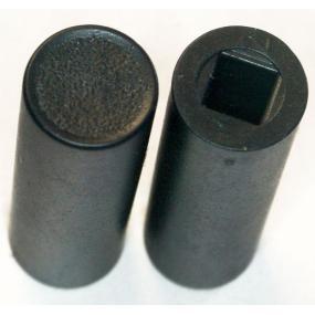 Knoflík na izostat kulatý černý 24mm