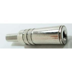 JACK 3,5 stereo zdířka kabelová kovová