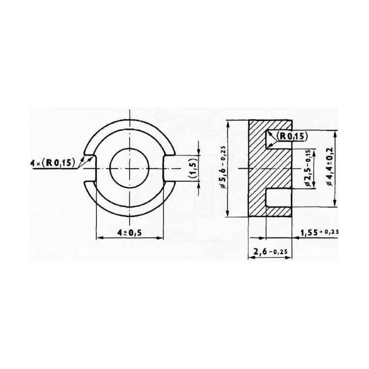Jádro pro induktivní snímač 5,6x2,6 H18